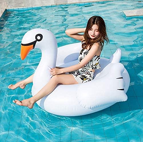 LZZB Cisne Blanco PVC Espesar creativos Juguetes inflables para Adultos Piscina Cama de Aire 150 * 105 cm sofá Inflable Tumbona