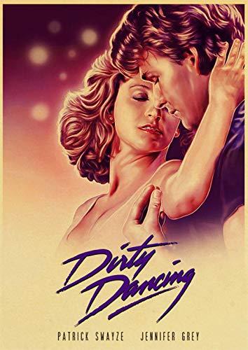 yiyitop Klassischer Film Dirty Dancing Poster für Raumdekor Vintage gedruckte Poster Kunst Wandaufkleber 57X80CM (Kein Rahmen)