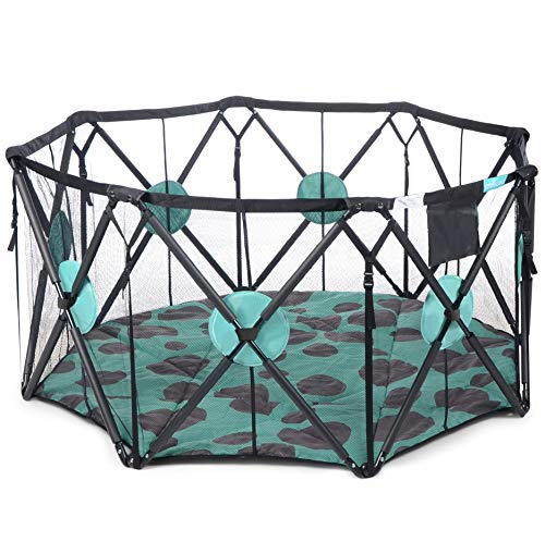 Milliard Playpen Portable Playard with Cushioning for Safety, for Travel, Indoor and Outdoor Play Yard Pen (8 Sided)