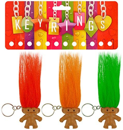 geo-versand Mädchen Jungen Spielzeug Adventskalender Mitgebsel mitbringsel Dinosaurier Krone Perlen bastelnKindergeburtstag (Troll Schlüsselanhänger)