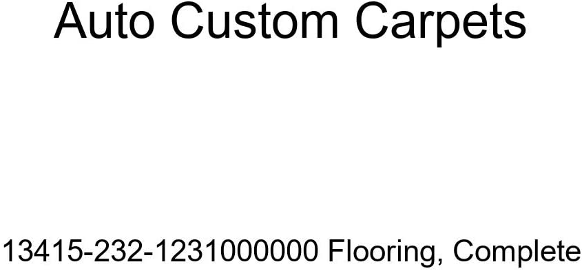 Auto Custom Carpets Complete Flooring 13415-232-1231000000 New product!! Directly managed store