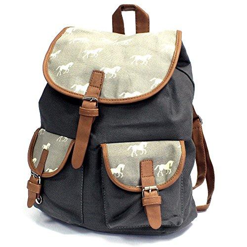 Traveler Backpacks - 2 Pocket Horses