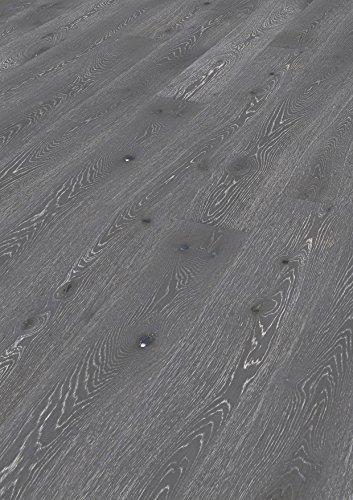 Hochwertiger Handgefertigter Parkettboden / Fertigparkett / Parkettboden Elegance - Eiche Landhausdiele lackiert - gebürstet - Natur (Helsinki) - 89,90 € pro m²
