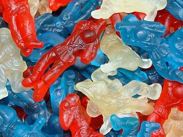Gummi Red White & Blue Military Heroes, 5 lbs