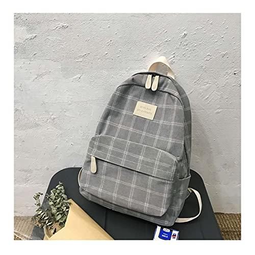 MPGIO Fashion Girl College School Bag Casual New Simple Women Zaino a Righe Book Packbags per Zaino da Viaggio per Adolescenti(Color:e)