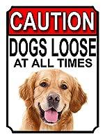 注意犬はいつでもルーズティンサイン装飾ヴィンテージ壁金属プラークカフェバー映画ギフト結婚式誕生日警告のためのレトロな鉄の絵