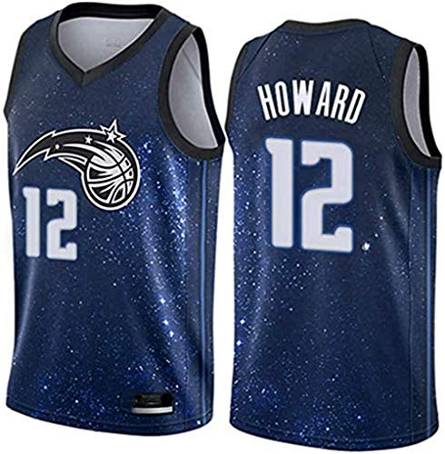 WSUN Camiseta De Baloncesto De La NBA para Hombre Dwight Howard # 12 Orlando Magic NBA Camisetas Sin Mangas Unisex para Jóvenes Trajes De Competición Deportiva Al Aire Libre,S
