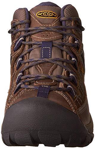 KEEN Women's Targhee 2 Mid Height Waterproof Hiking Boot,Goat/Crown Blue, 8.5 M (Medium) US