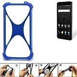 K-S-Trade® Handyhülle Für Allview V2 Viper XE Silikon Schutz Hülle Cover Case Bumper Silikoncase TPU Softcase Schutzhülle Smartphone Stoßschutz, Blau (1x),