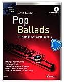 Pop Ballads – 14 mejores ballenas para flauta – partitura de piano, sonido solo, audio online – Libro de partituras con pinza – Schott Music ED20796 9783795759919