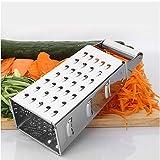 Rallador-rallador de verduras-rallador de acero inoxidable 304-ocho pulgadas, utilizable en todos los lados-zanahoria, queso, pimiento verde, ajo, etc.-utensilios de cocina-apto para lavavajillas