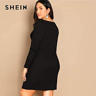 5d8f4f7038 Button Front Long Sleeve Plus Size Bodycon Short Dress Women Stretchy Slim  Fit Mini Dress