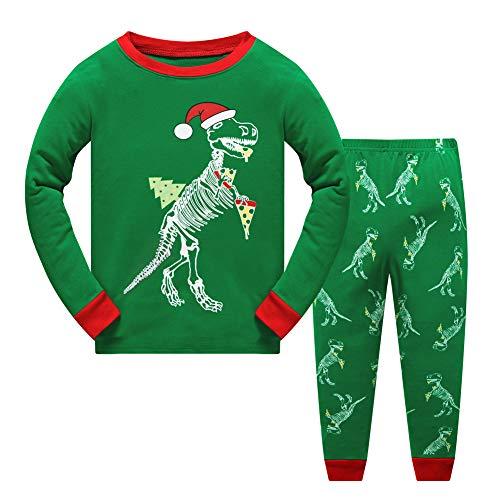 Sweetkids Dinosaur Little Baby Girls Boys Christmas Pajamas Sets Kids Xmas Sleepwear PJS (3T)