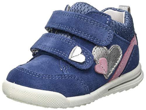 Superfit Jungen Mädchen Avrile Mini Low-Top Sneakers Sneaker, BLAU/ROSA, 20 EU