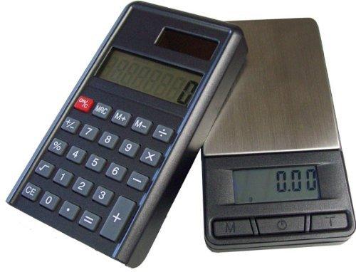 200g/0,01g PC Feinwaage Taschenwaage & Taschenrechner (2 in 1) Digitalwaage Küchenwaage Münzwaage Goldwaage G&G