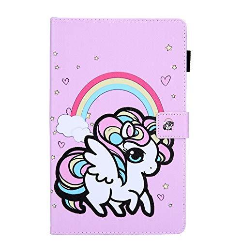 Funda para tablet Galaxy Tab A 8 2019 SM-T290 SM-T295 PC trasera magnética para tablet Samsung Galaxy Tab A8.0 (color: unicornio arcoíris)