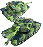 FRICTION POWERED: The Toyshine Friction Powered Fighter Military Tank travels long distances and climbs over obstacles along its path. Little ones enjoy pushing the friction powered truck and watching it roll by itself. HIGH-QUALITY CONSTRUCTION: Pro...