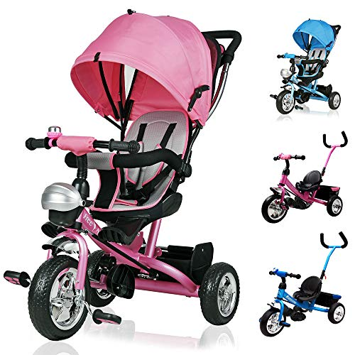 Deuba Tríciclo infantil Rosa niños pequeños y mayores