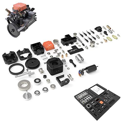BOBX Benzinmotor Modellbau, TOYAN FS-S100AC 1-Zylinder 4-Takt DIY Motor Zusammenbauen Methanol Motor Wassergekühlt Verbrenner Motor Modell Verbrennungsmotor Motor Modell für RC Auto/Boot/Panzer