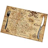 Eliuji Manteles Individuales Manteles Individuales Manteles Individuales Mapa del Tesoro Pirata...