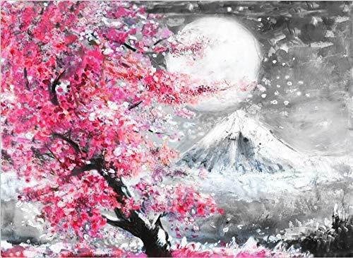 Mount Fuji Cherry Blossom Landschaft Japan Leinwand Malerei Wandkunst Poster Öldrucke Bilder Für Wohnzimmer Küche Wohnkultur (Size : 50x70cm no Frame)
