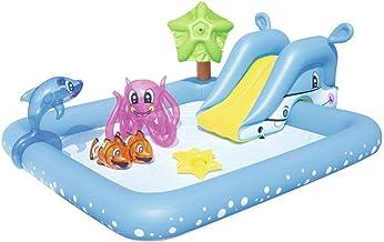 JFSKD Piscinas Hinchables, 239X206x86cm Protección Ambiental Engrosada De PVC Piscinas Infantiles con Tobogán,Piscinas Inflables Interiores Y Exteriores
