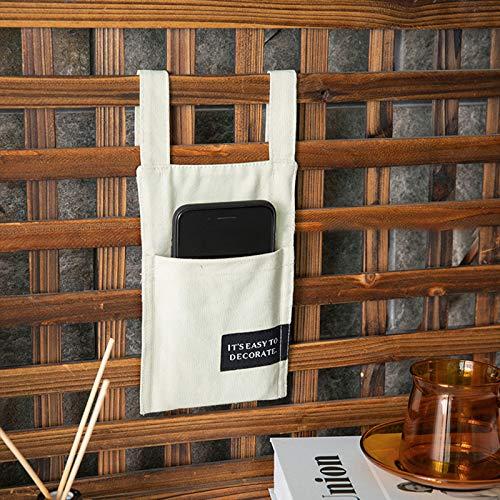 Bolsillo Cama Juego de 1 Bolsillos Colgantes de Fieltro – Bolsa para sofá para Guardar Libros,periódicos,mandos a Distancia,Tablets o móviles – Organizador de Cama para Colgar