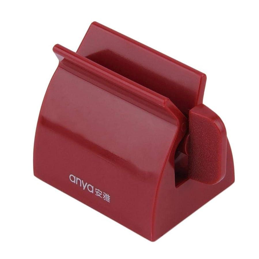契約した別のからかうABSクリエイティブバスケットの歯磨き粉チューブスクイーザー多機能チューブディスペンサー (レッド)