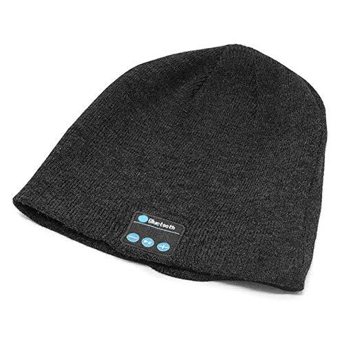 SFGSA Bluetooth Mütze Upgrade Bluetooth 5.0 Kopfhörern Mütze mit Freisprechfunktion für HD Musik und Anrufe, Waschbar,Schwarz