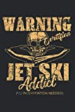 Jet Ski Funny Water Sports Jet Skiing: Daily Planner Journal, To Do List Notebook
