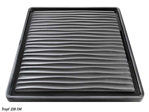 BLANCO anlegbarer Tropf, 230734, Wellenoptik, Kunststoff, schwarz-grau