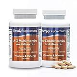 AZ Multivitamines et Minéraux | Renforcé en Vitamine C| 360 Comprimés | Adapté aux végétaliens | Jusqu'à 1 an de bienfaits |SimplySupplements