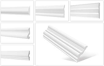 HEXIM O Wandlijsten patroonstukken van piepschuim XPS - Hoogwaardige stuclijsten licht en robuust in modern design - (FG4-...