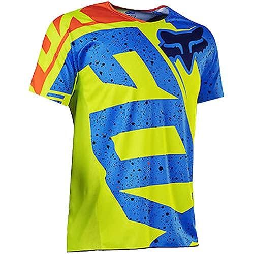 ZYXFYY Maillot De Ciclismo Hombre Camiseta Manga Corta Jersey Top De Bicicleta...