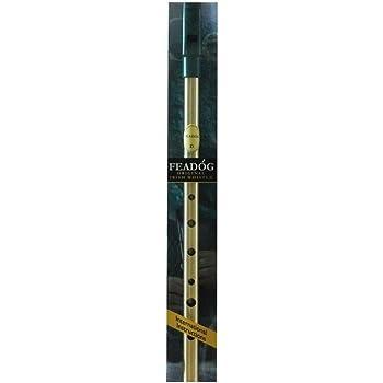 "New Authentic Brass Irish Feadog Key ""D"" Penny Whistle"