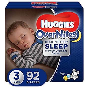 HUGGIES OverNites Diapers Size 3  16-28 lb  92 ct Overnight Diapers Giga Jr pack