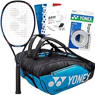 Stan Wawrinka (Pro Player) Yonex VCORE Pro 97 (310g) Tennis Racquet Set or Kit Bundled with a Yonex Pro 12-Pack Racket Bag, Strings, and Overgrips