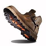 [URNICE] Z.SUO ブーツ メンズ 本革 ブラウン 冬 防寒靴 25.5cm