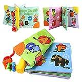 Coolplay 布絵本 赤ちゃん おもちゃ 英語 ベビー用ブック 音の鳴る絵本 4冊セット(ASTMなど認証済み)