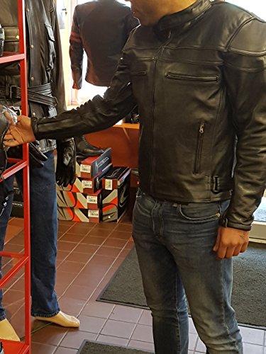 STURGIS (Monza Naked Rindsleder CE und belüftet Motorrad Jacke schwarz schwarz XXXX-Large - 6
