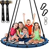 Trekassy 750lbs Spider Web Tree Swing 45 inch for Kids Adults with Swivel, 2pcs 10ft Tree...