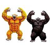 wwbfdc 2 Piezas Dragon Ball Z Ape Son Goku Anime Figuras PVC Juguetes Estatua Acción Figma Ape Model...
