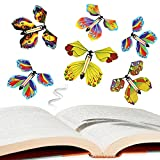 SARATA Magic Flying Butterfly Fairy Flying Toys Rubber Band Powered Wind up Butterfly Toy 10PCS Colorful Butterfly Wind Up Toys for Greeting Card Surprise Gift or Party Playing