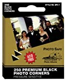 Pioneer Photo BPC1 Corners Self Adhesive, 250/Pkg, Black...