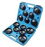 LLCTOOLS 14 tapas universales de filtro de aceite para llave de filtro de aceite