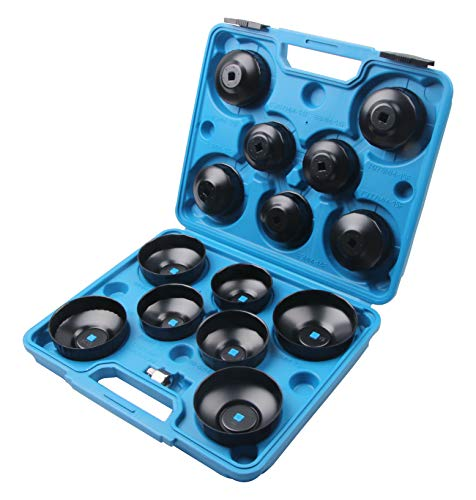 LLCTOOLS 14 TLG Universal Ölfilterkappen Ölfilterschlüssel Ölfilter Werkzeug
