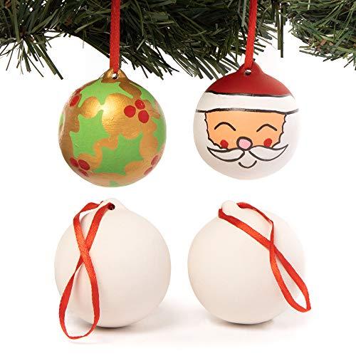 Baker Ross Palle di Natale in Ceramica (Pacco da 4)
