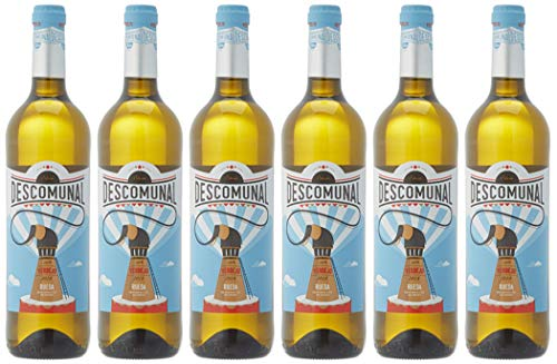 Descomunal Verdejo Vino blanco D.O Rueda- 6 Botellas de 750 ml - Total