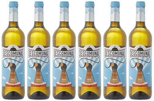 Descomunal Verdejo Vino blanco D.O Rueda- 6 Botellas de 750 ml - Total: 4500 ml ⭐