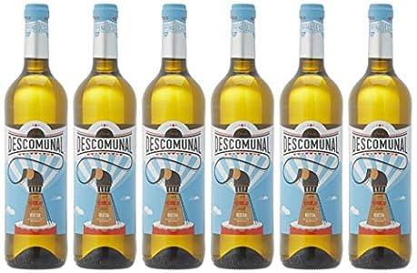 Descomunal Verdejo Vino blanco D.O Rueda- 6 Botellas de 750 ml - Total: 4500 ml